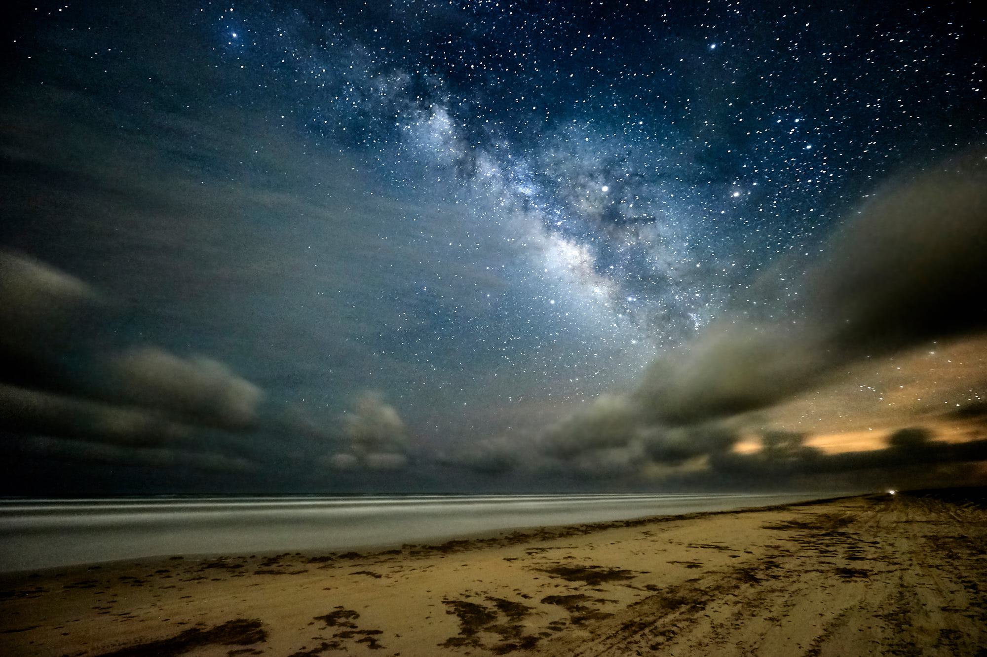 A Milky Way Photo with Clouds