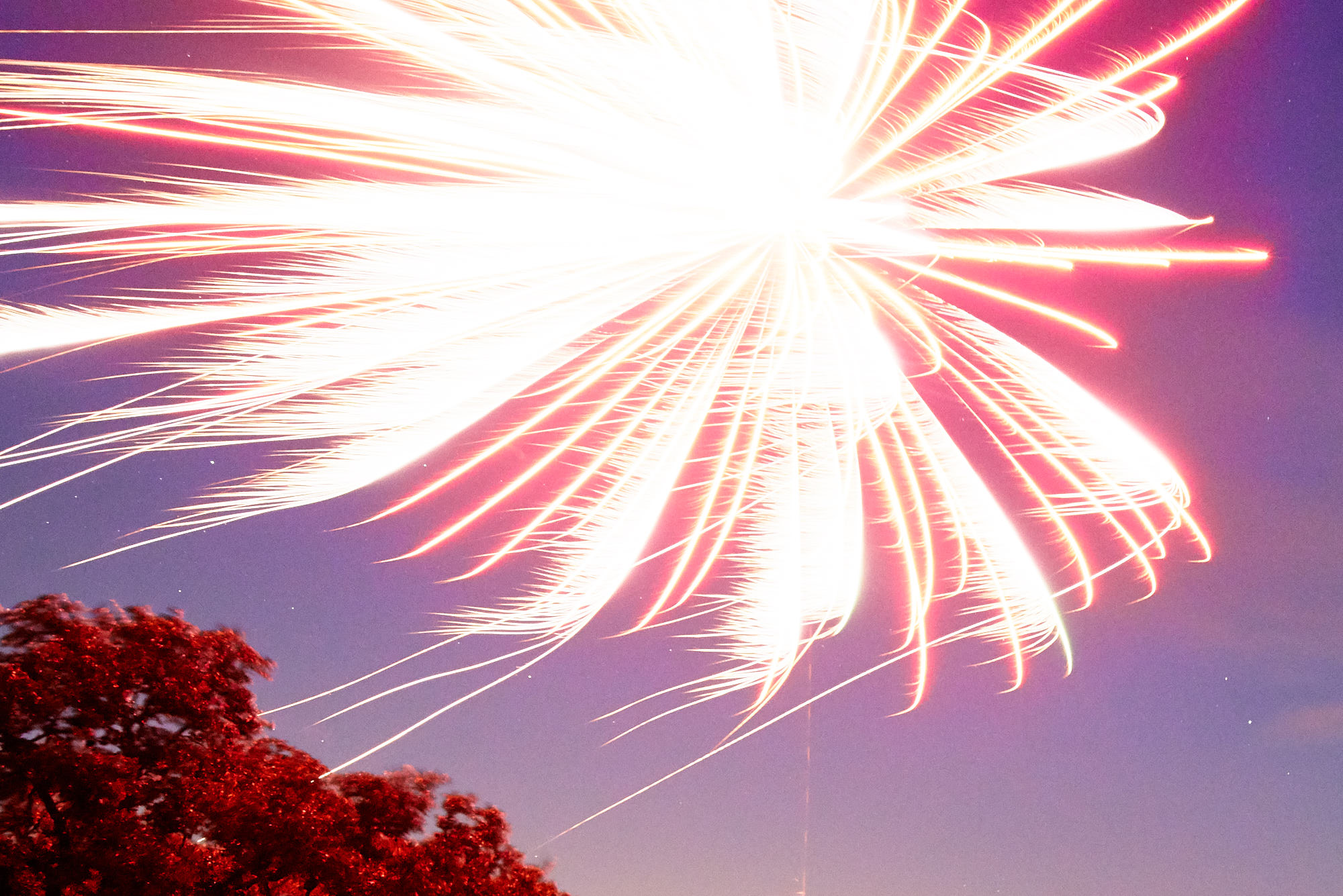 Photographing Fireworks - Proper Exposure - Too Bright